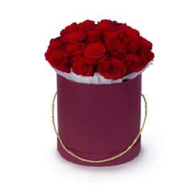 шляпная коробочка 21 красная роза фото