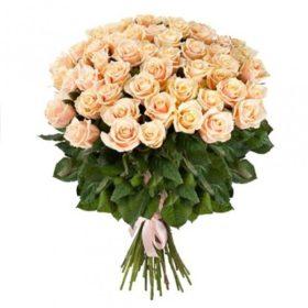 цветы 51 кремовая роза