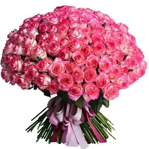 """фото букета 101 роза """"Джумилия"""""""