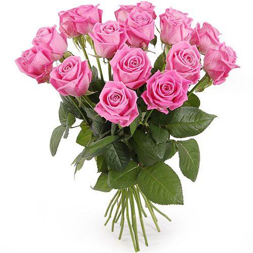 """15 розовых роз """"Аква"""""""