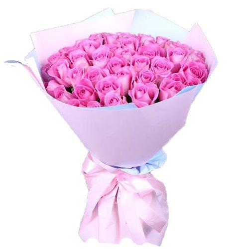 31 роза «Аква» фото