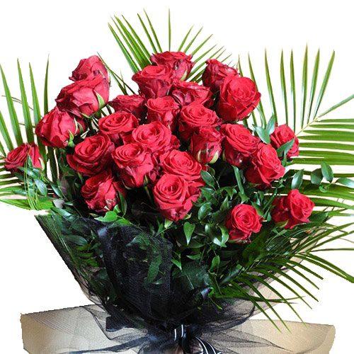 товар Похоронный букет цветов красные розы