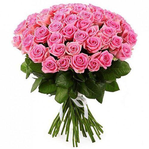"""51 роза """"Аква"""" фото букета"""