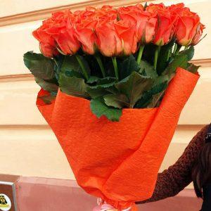 51 оранжевая роза в Бердянске фото