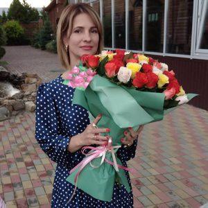 51 роза микс в Бердянске