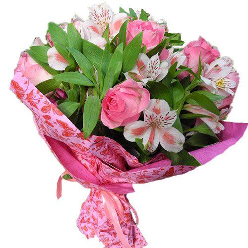 Розовый цвет букет