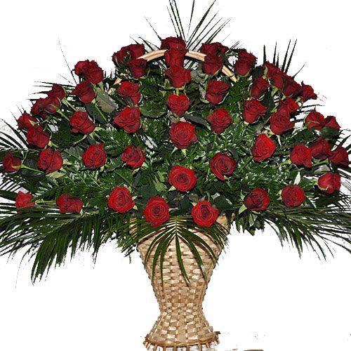 товар Живые похоронные цветы красные розы