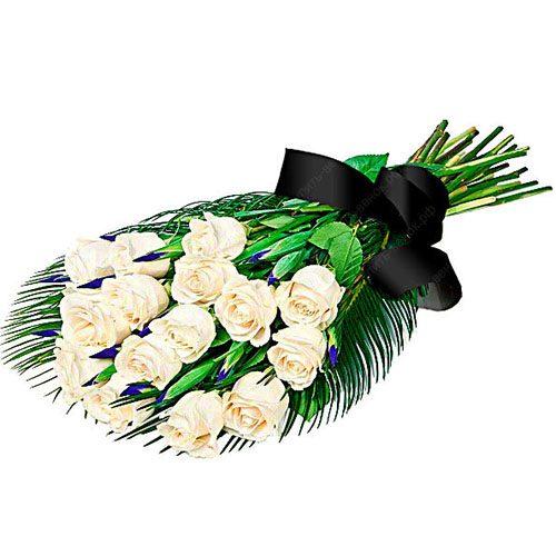 товар Живые цветы на похороны белые розы