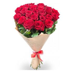 21 красная роза букет