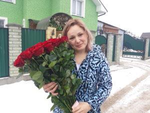 букет красных роз фотоотчет бердянск