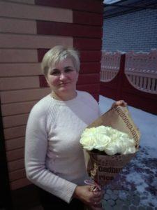 букет белых роз фотоотчет бердянск