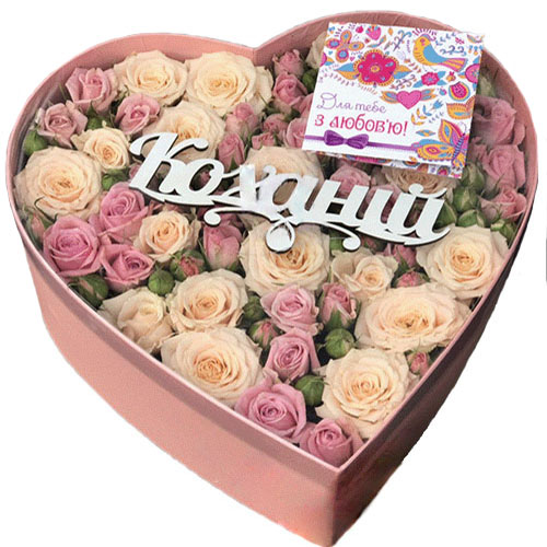Коробка Любимой розы фото