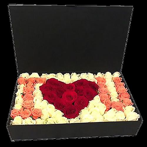"""101 роза """"I Love You"""" фото букета"""