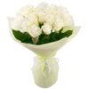 букет 19 белых роз