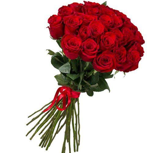 фото букета 25 импортных роз