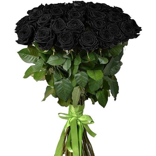 букет 25 черных роз