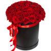 фото 51 роза красная в шляпной коробке