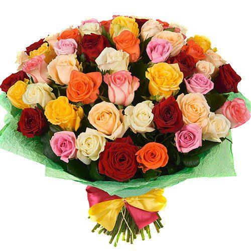 букет 51 роза микс