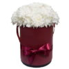 """Шляпная коробочка """"Кудрявая"""" белые хризантемы"""