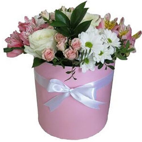 "Шляпная коробочка ""Флорида"" микс цветов"