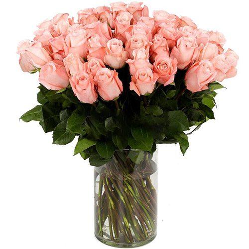 Роза импортная розовая фото товара