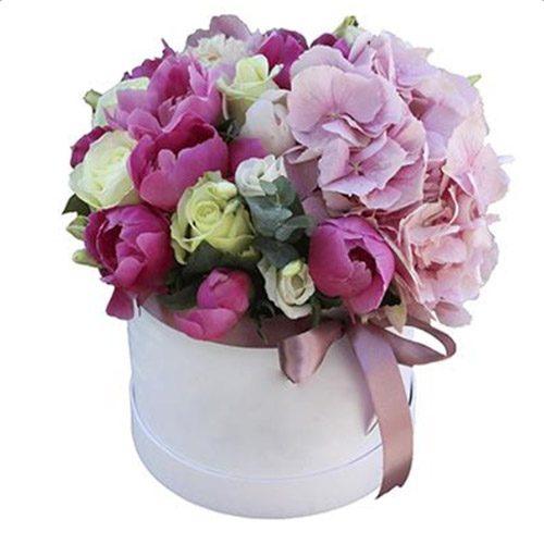 "Шляпная коробка ""Монпансье"" микс цветов"