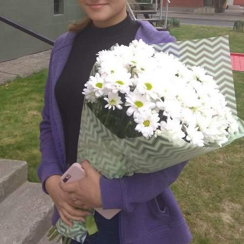 Букет хризантем фото доставки