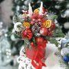 """Коробка """"Рождественская вспышка"""" праздничный подарок в оттенках красного"""