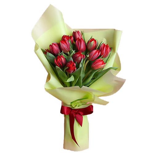 15 красных тюльпанов фото
