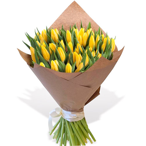"""45 жёлтых тюльпанов """"Золотое руно"""""""