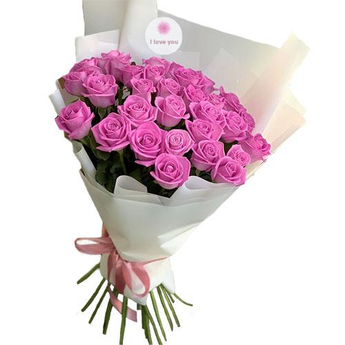 """Фото товара 31 роза """"Аква"""""""