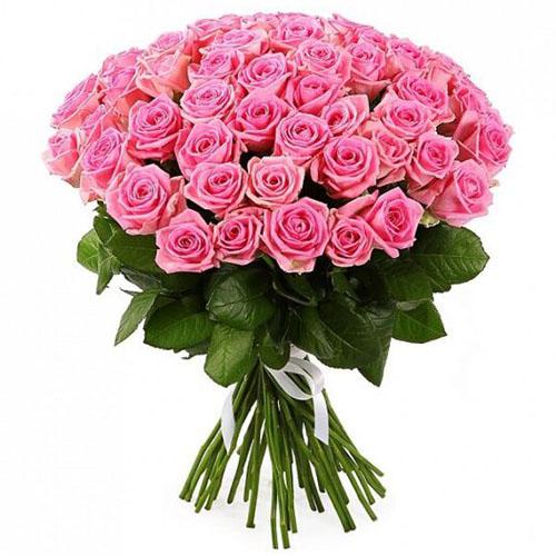 """Фото товара 51 роза """"Аква"""""""