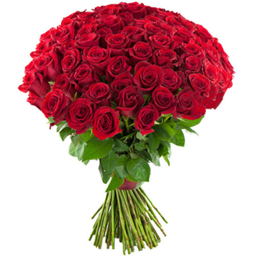 Фото товара 75 красных роз