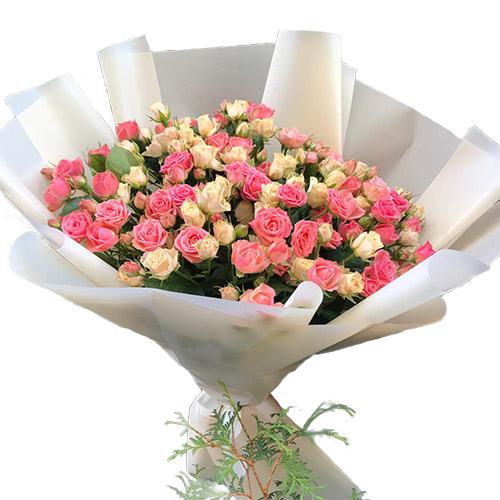 Фото товара 33 кустовые розы