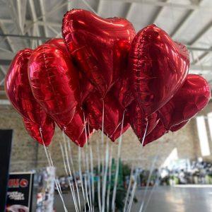 Шарики в форме сердца 7 штук фото