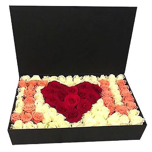 "Фото товара 101 троянда в коробці ""I love you"""