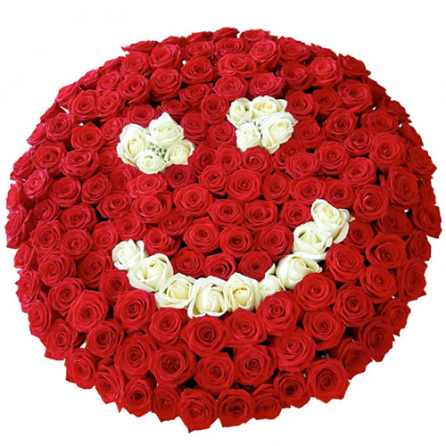 "Фото товара 201 троянда ""Смайлик"""