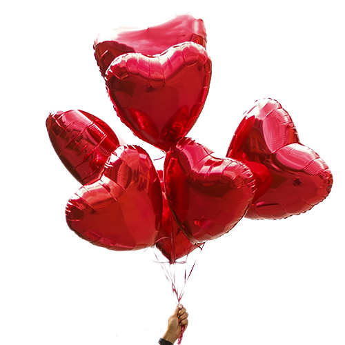 """Фото товара Кульки """"Серце"""" 7 шт"""