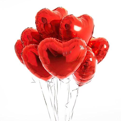 Фото товара Кульки фольговані у формі серця поштучно