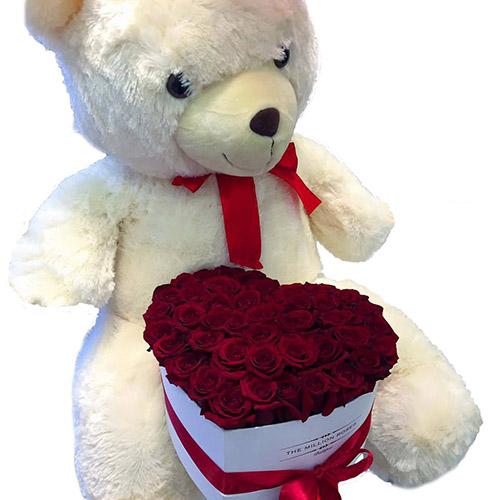 """Фото товара Серце """"Купідон"""" і білий ведмедик"""