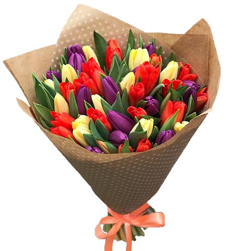 Фото товара 25 тюльпанів мікс
