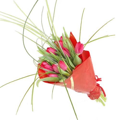 """Фото товара Букет """"Фонтан"""" (15 тюльпанів)"""