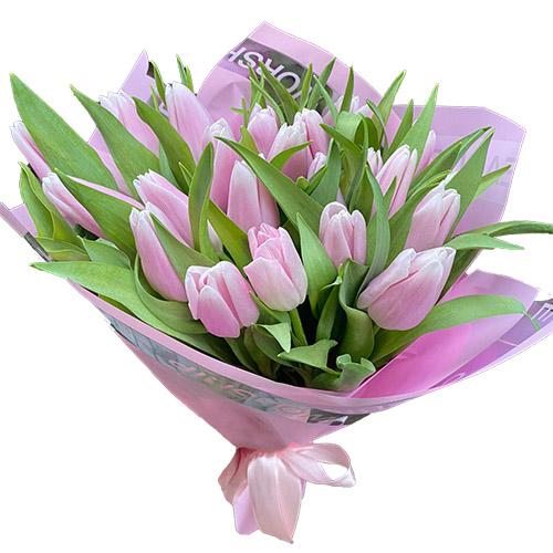 Фото товара 21 ніжно-рожевий тюльпан