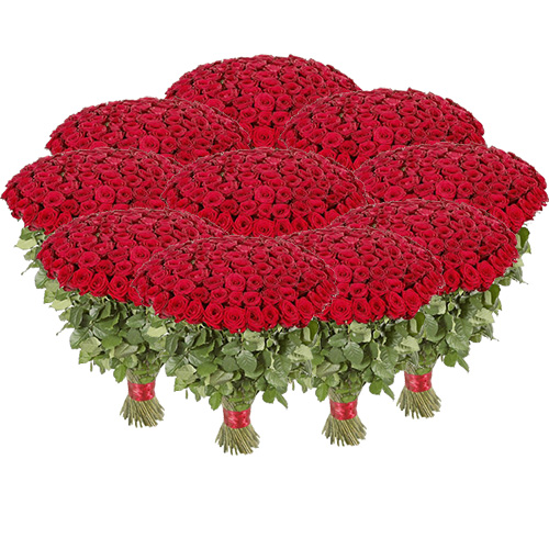 Фото товара Букет 1001 червона троянда