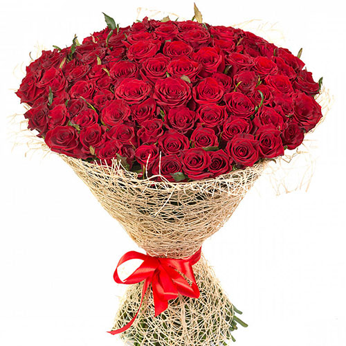 Фото товара 101 червона троянда