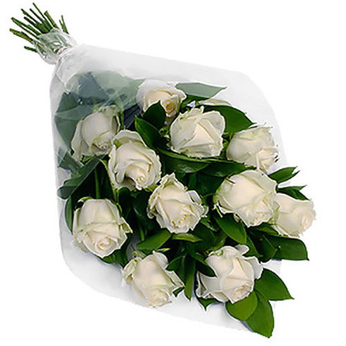 Фото товара 11 білих троянд
