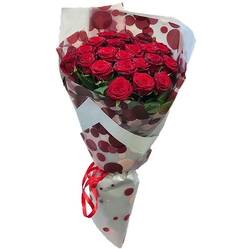 Фото товара 21 червона троянда