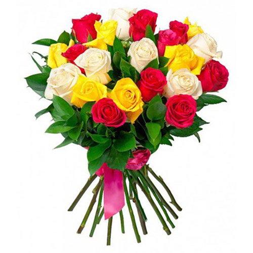 Фото товара 21 троянда мікс