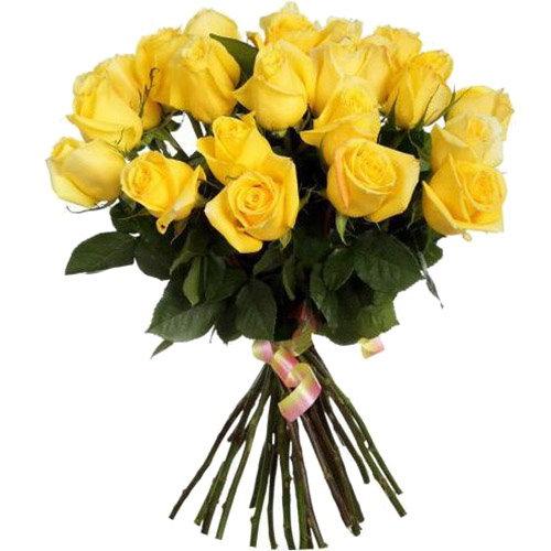 Фото товара 25 жовтих троянд