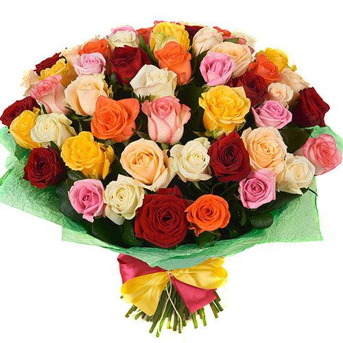 Фото товара 51 троянда мікс
